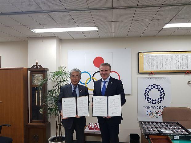 Бубка и Саито подписали договор о сотрудничестве / noc-ukr.org