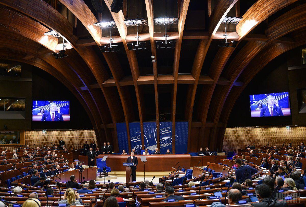 В 2014 году ПАСЕ лишила российскую делегацию права голоса / фото УНИАН