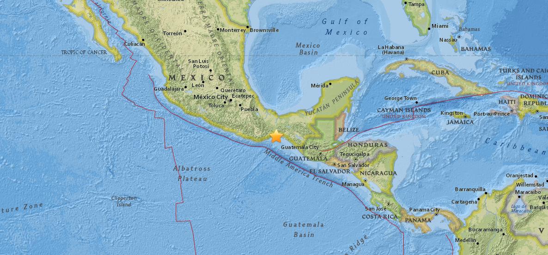 В Мексике произошло землетрясение / фото earthquake.usgs.gov