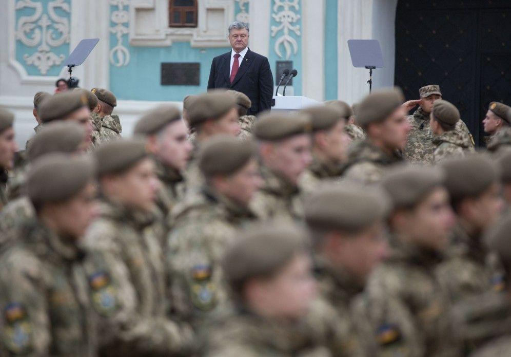 Сегодня в некоторых областях Украины начало действовать военное положение/ president.gov.ua