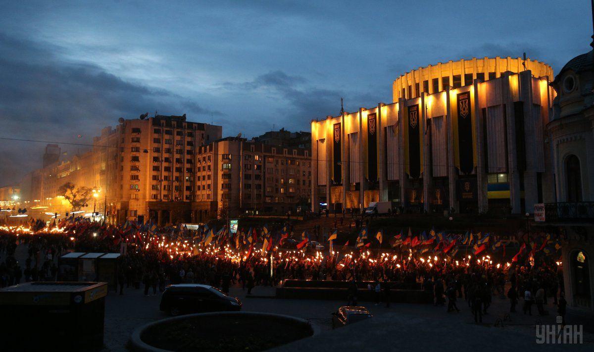 В Киеве прошел Марш славы УПА / Фото УНИАН