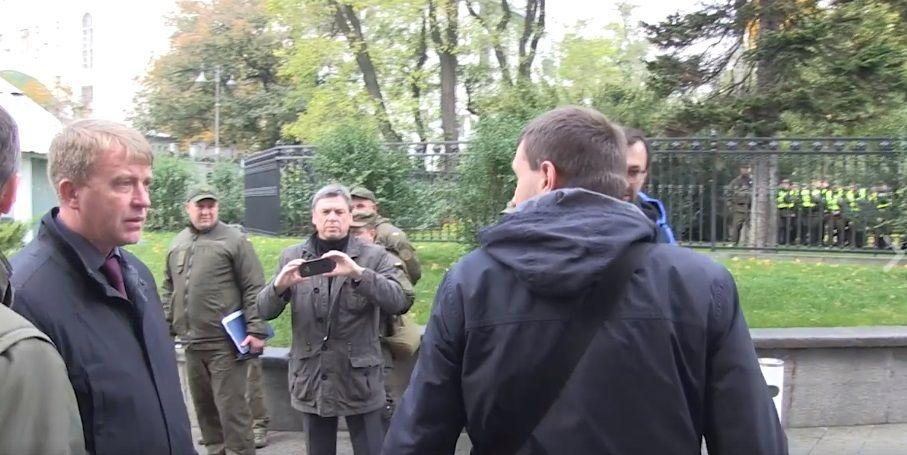 Парасюк побився значальником УДО Гелетеєм (відео)