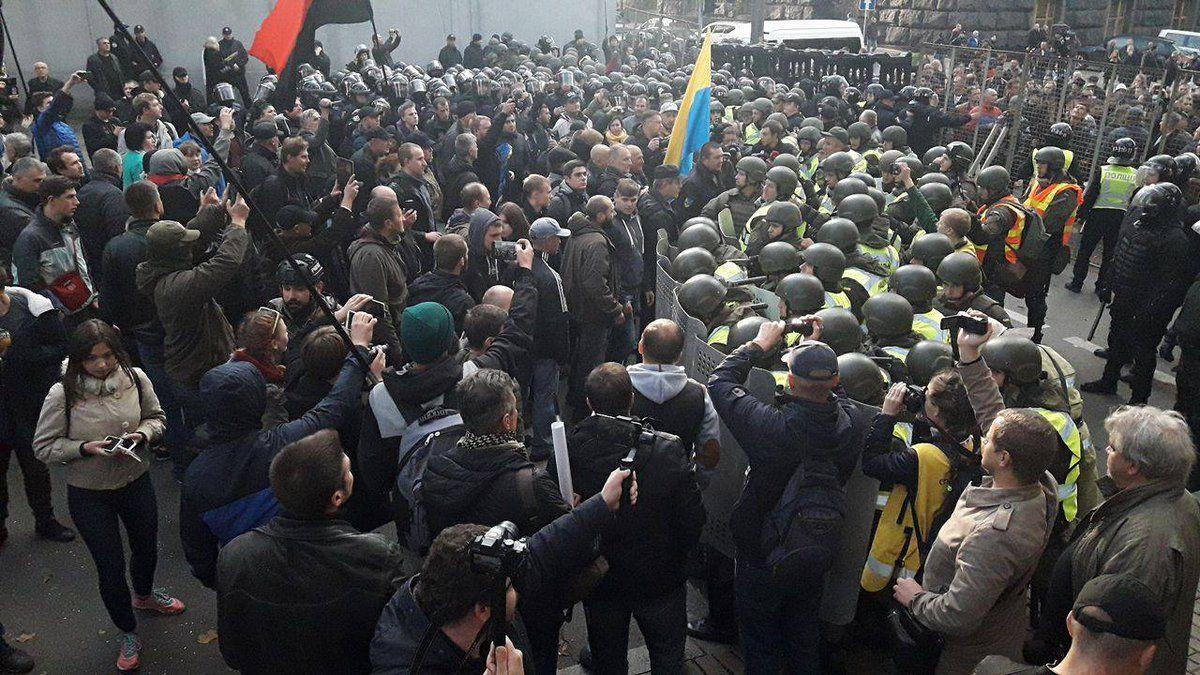 Активисты намерены продолжать протест / фото twitter.com/ukrpravda_news