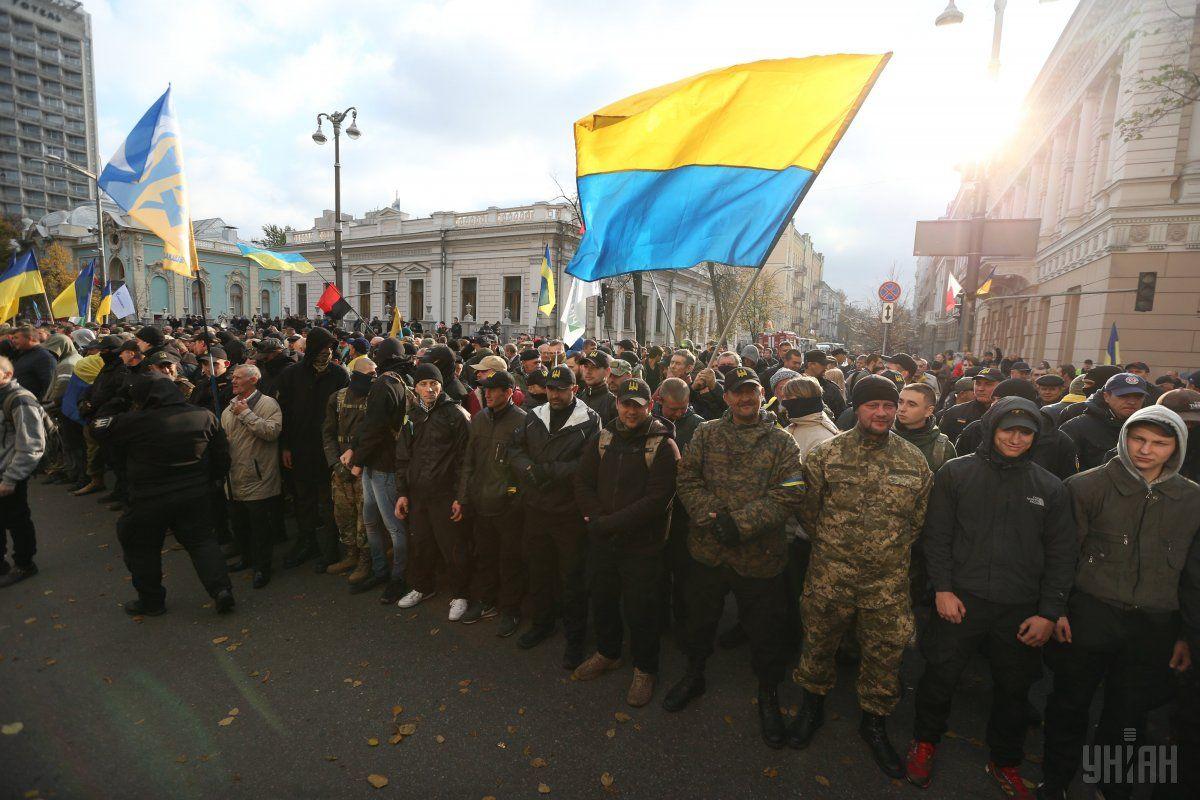 Работу машины РЭБ связали с митингом в Киеве / фото УНИАН