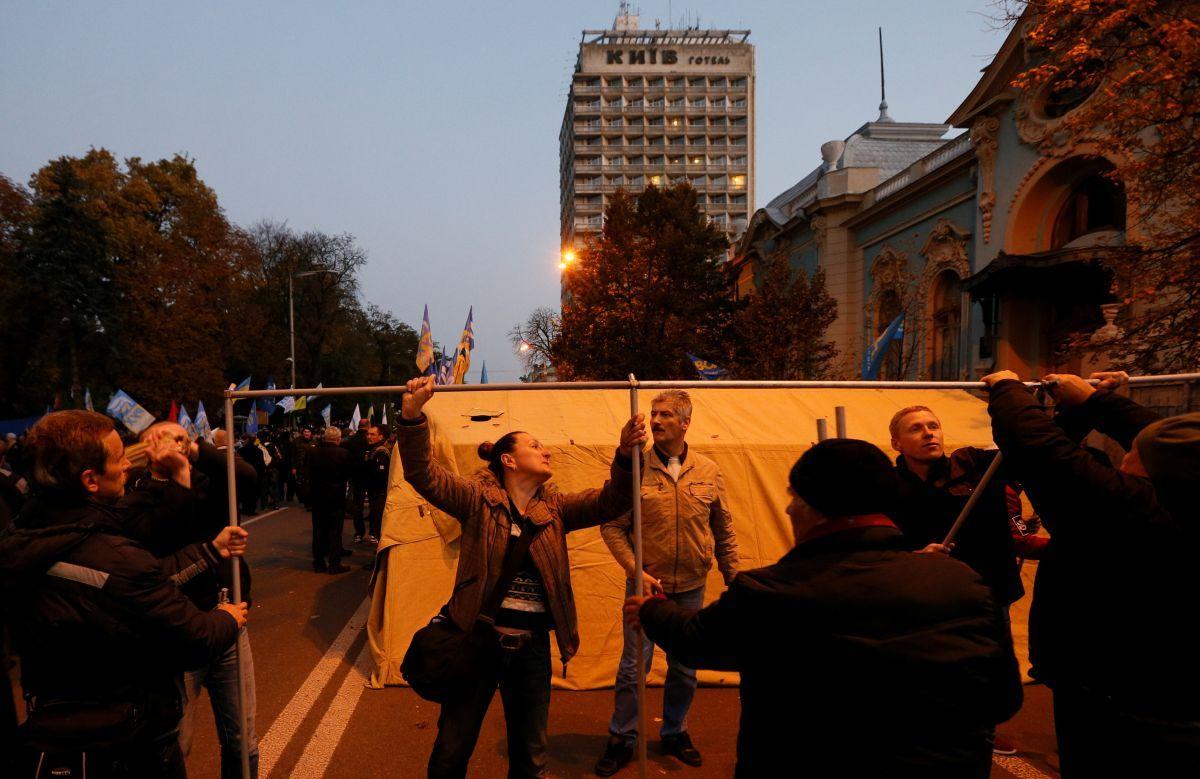 Протестующие в Киеве / REUTERS