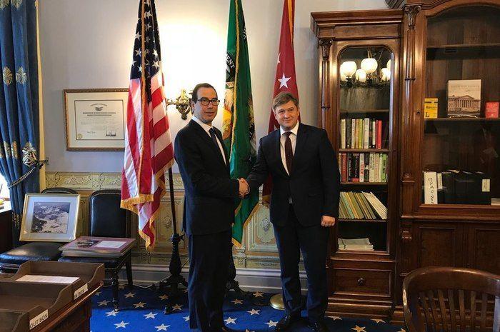 Міністри фінансів США Стівен Мнучин і України Олександр Данилюк / фото minfin.gov.ua