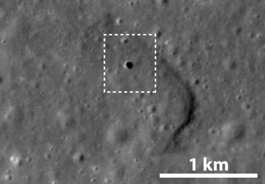 Печера утворилась близько 3,5 мільярдів років тому / фото Japan Aerospace Exploration Agency