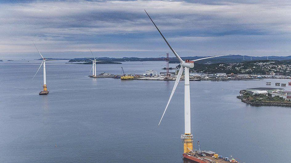 Перша у світі плавуча вітрова електростанція розпочала роботу