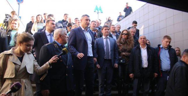 Переходи призначені винятково для того, щоби люди безперешкодно потрапляли і виходили з метро - Кличко / Фото kievcity.gov.ua