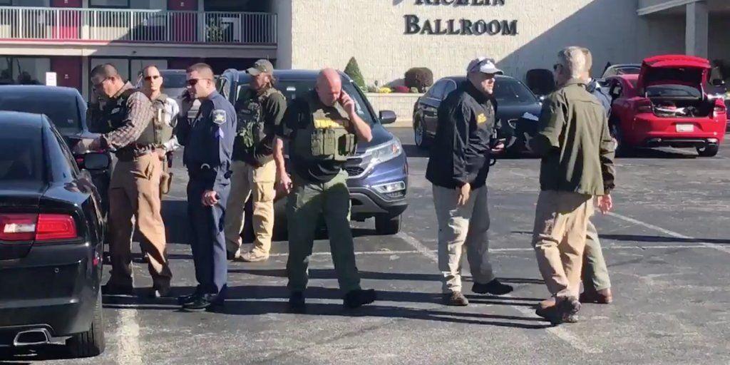 Преступник открыл стрельбу в бизнес-парке, после чего скрылся / Фото twitter.com/businessinsider
