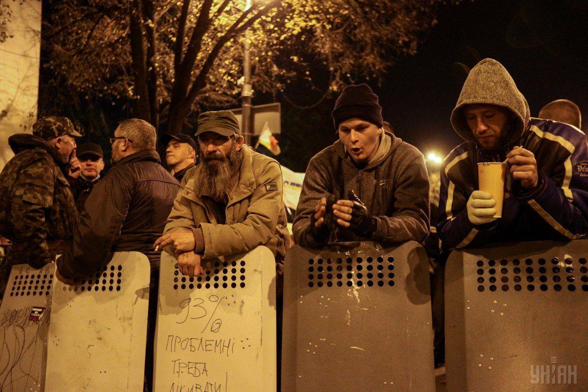 Полиция хотела вернуть себе щиты / фото УНИАН