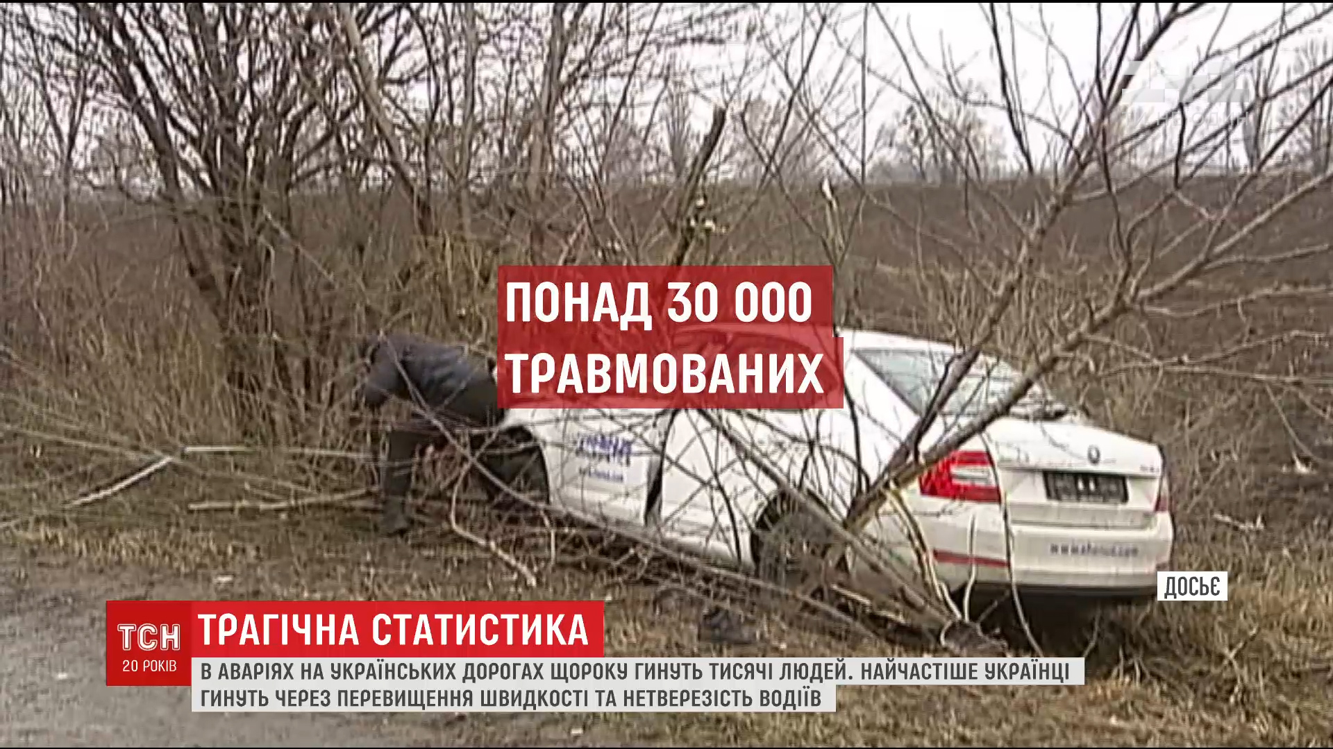 Трагический рекорд: в Украине смертельные ДТП происходят чаще, чем в любой стране Европы /