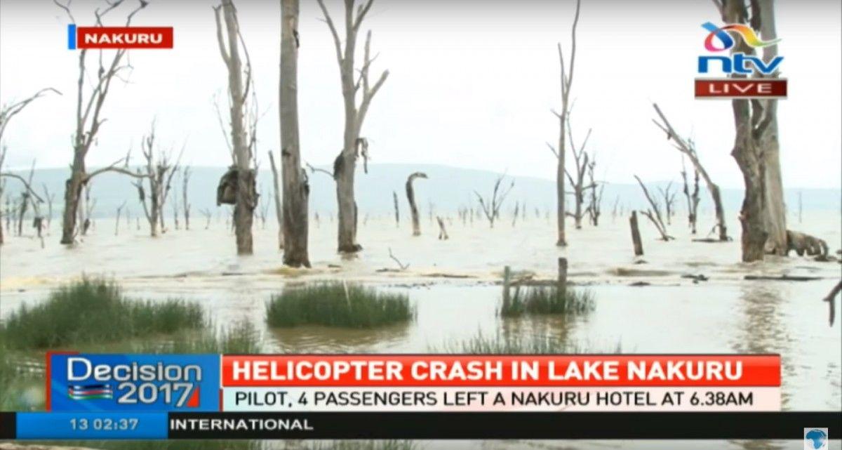 В озеро Накуру впав вертоліт з журналістами / Кадр з відео