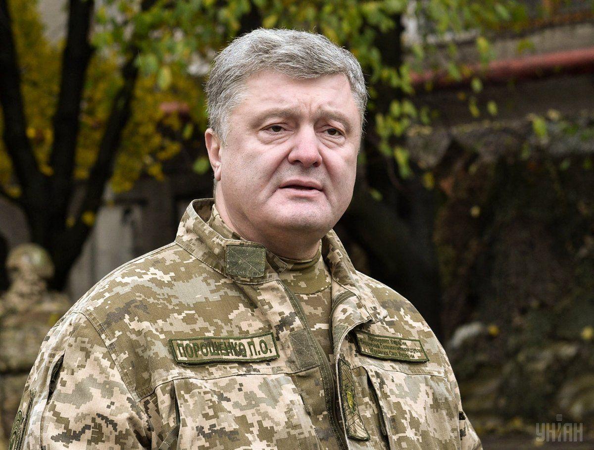 Порошенко рассказал, как за последние годы выросло денежное обеспечение военных/ УНИАН