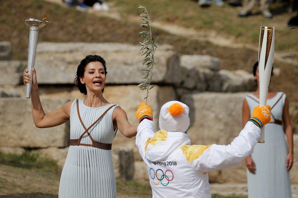 Відбулася генеральна репетиція церемонії запалювання олімпійського вогню Ігор-2018 / Reuters