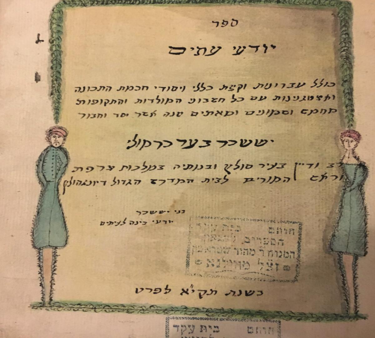 Рукопись по астрономии Иссахара Бер Кармоли, 1751 год / yivo.org