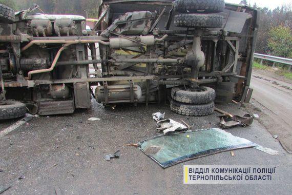 В результаті удару до лікарні потрапили обидва водії / фото національна поліція України в Тернопільській області