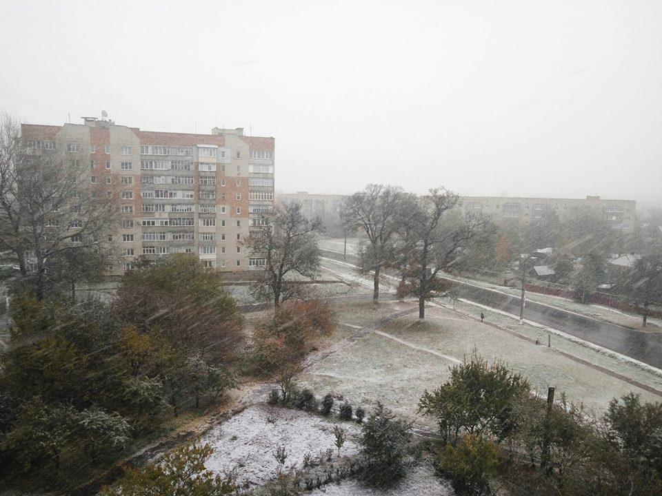 Утренний снегопад на Сумщине / konotop.in.ua