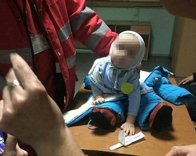Женщину, которая оставила ребенка разыскивали 1,5 часа / фото kyiv.npu.gov.ua