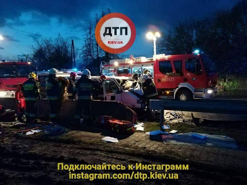 В Польше произошло трагическое ДТП / фото facebook.com/dtp.kiev.ua