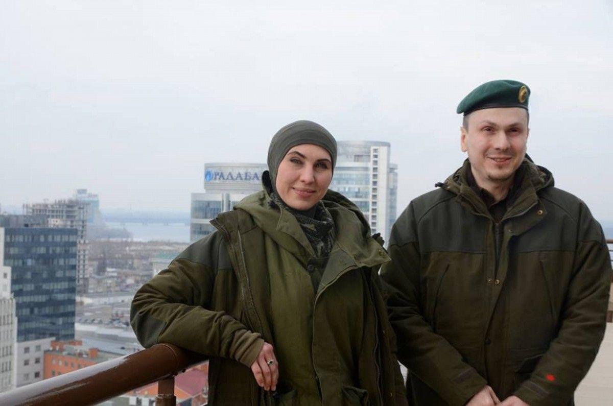 Супруги Адам Осмаев и Амина Окуева / фото страница Амины Окуевой у Facebook