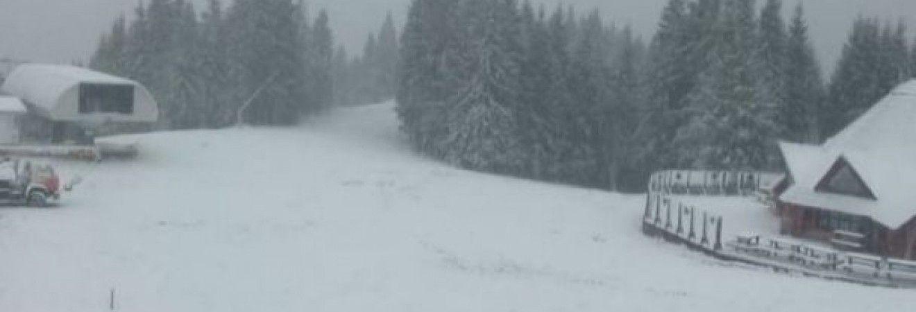В Украине выпал первый снег (фоторепортаж)