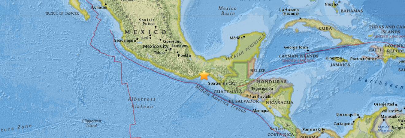 На юге Мексики произошло землетрясение магнитудой 5,4