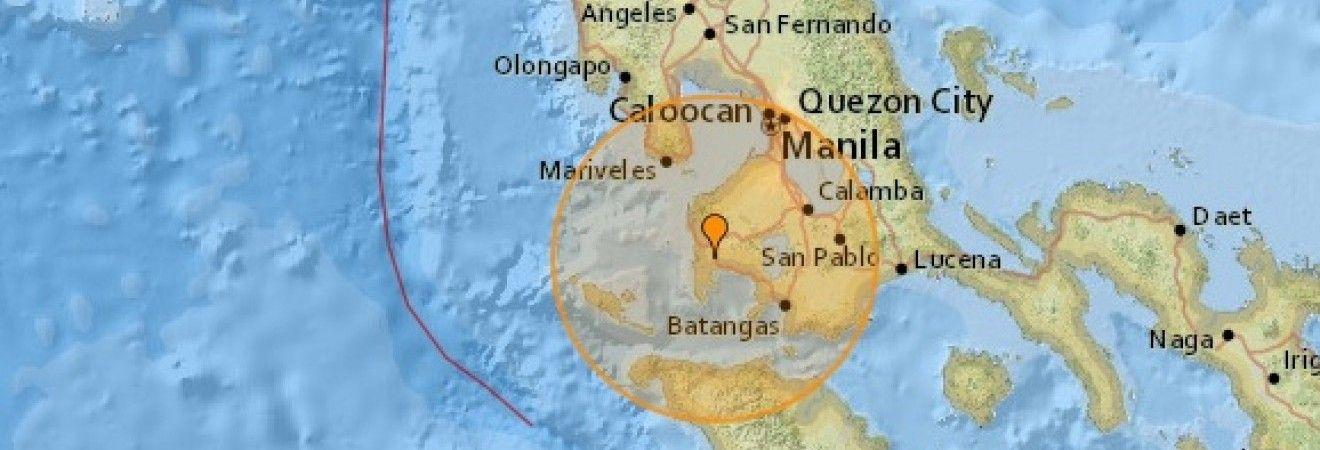 На Філіппінах стався землетрус магнітудою 5,4