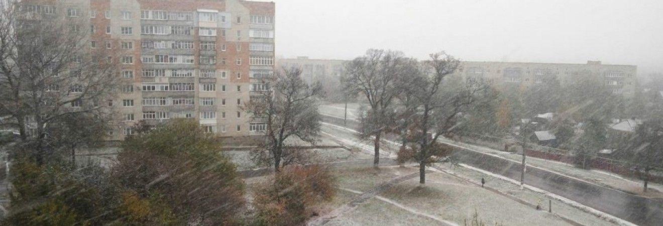 В северных областях Украины выпал снег (видео)