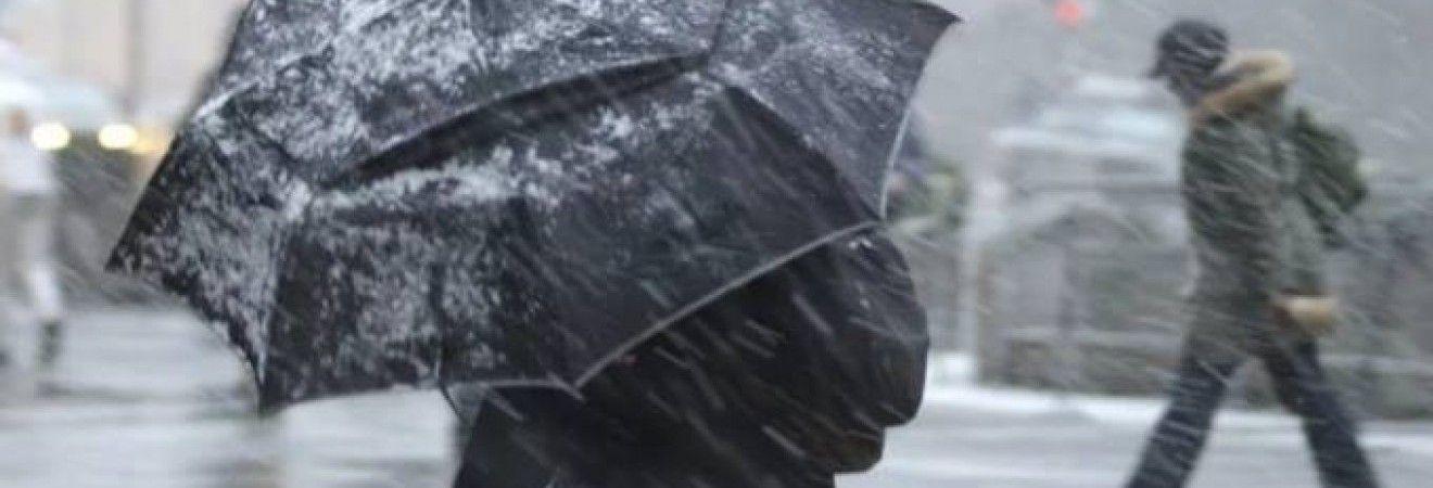 На Украину надвигаются метели и мокрый снег
