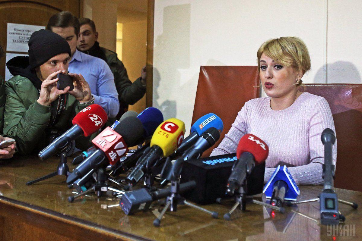 Пресс-секретарь Соломенского суда Яна Квитченко / фото УНИАН
