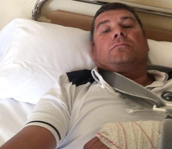 Онищенко впав з коня / фото instagram.com/aleksandr_onyshenko