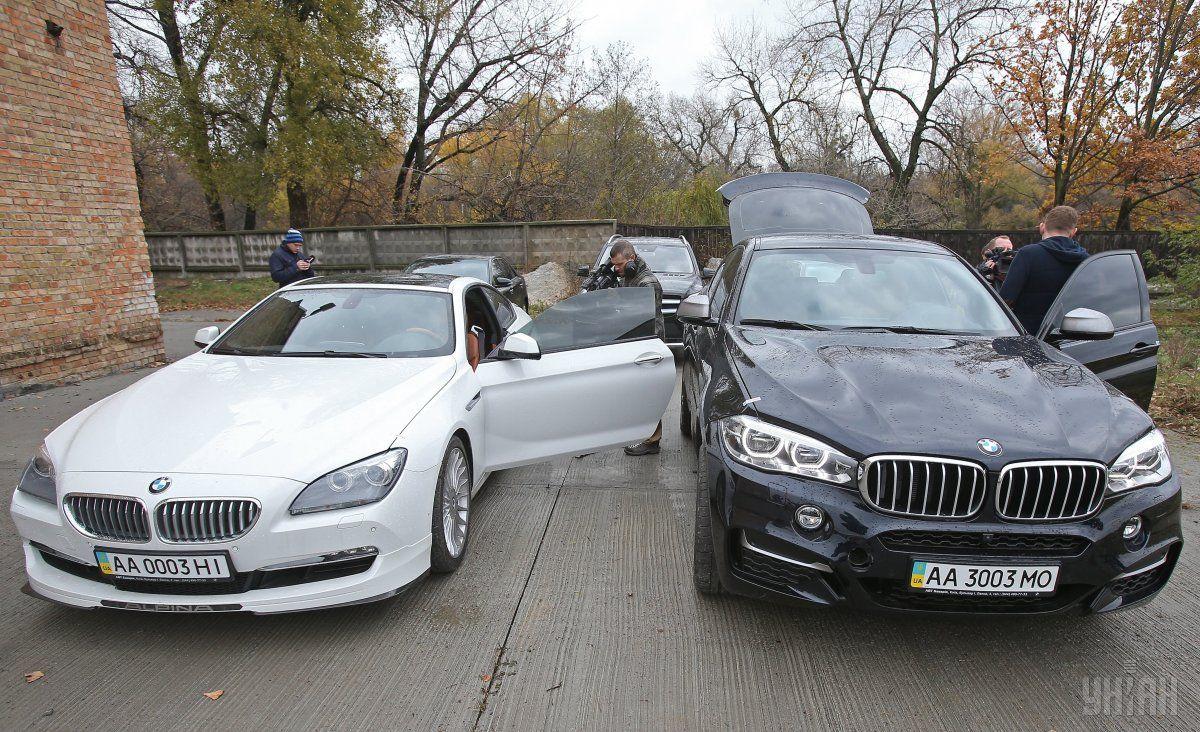 5 авто, арестованных по«делу Клименко», выставлены нааукцион