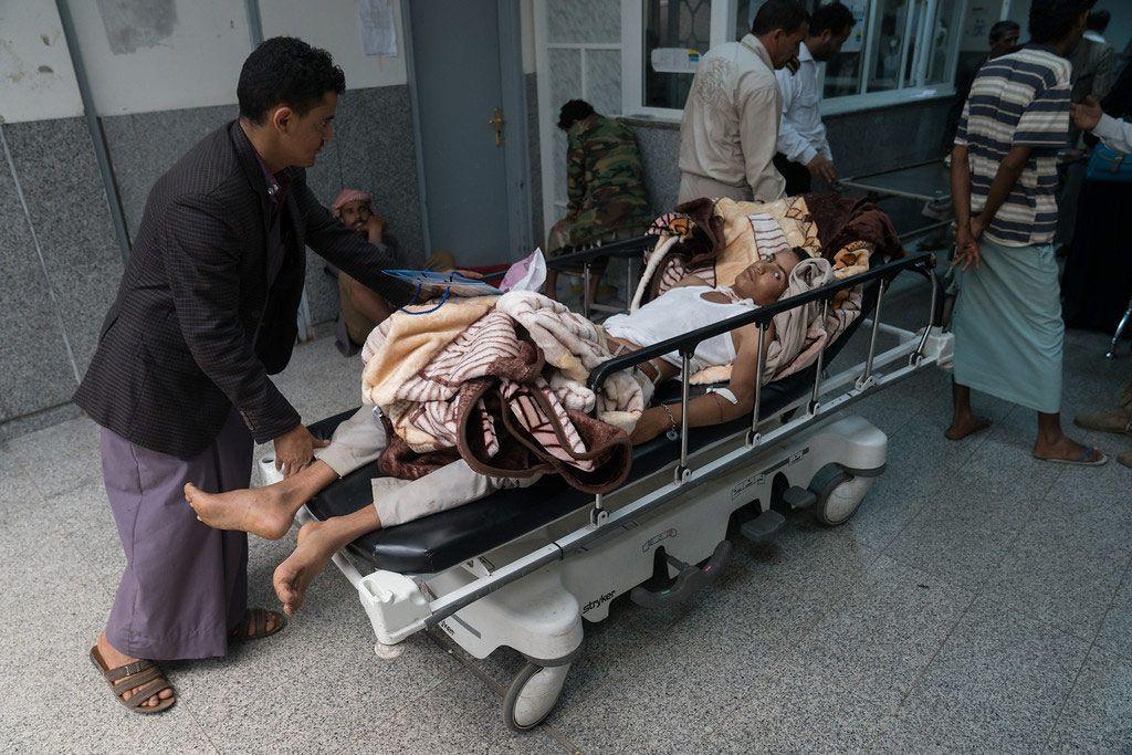 Пациент с подозрением на холеру в Сане, Йемен. Фото УКГВ/Г.Кларке