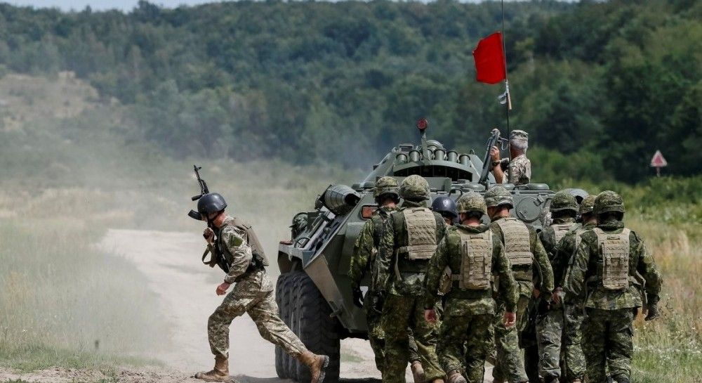 Canada's military trainers in Ukraine teach soldiers skills such as bomb disposal, medical training and how to work as a unit/ REUTERS