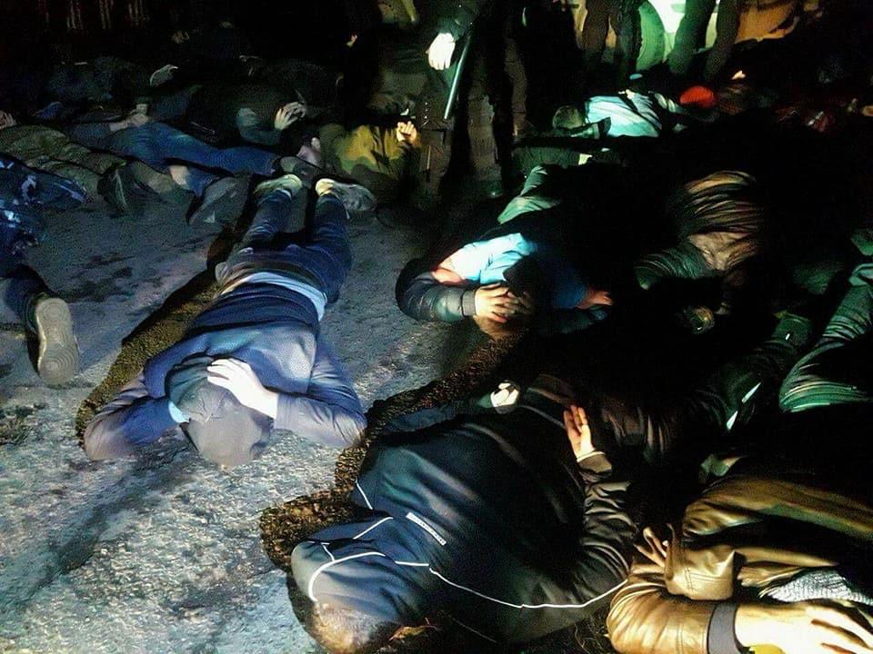 В итоге полиция задержала более 40 рейдеров / фото facebook.com/arsen.avakov