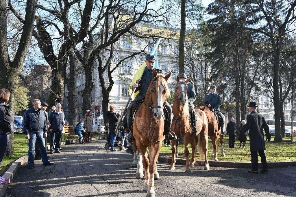 Участники марша славы скандировали ЗУНР