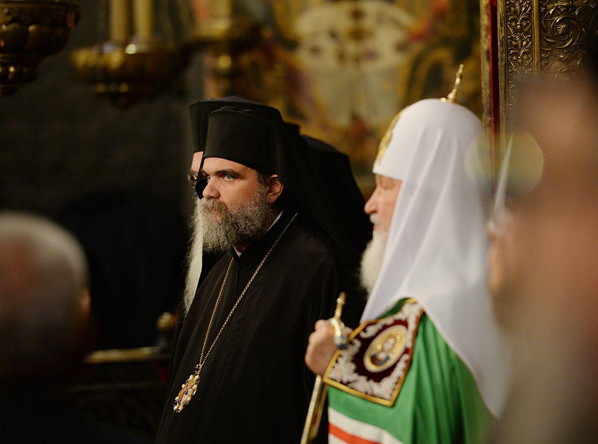 праздник Казанской иконы Божией Матери Успенском соборе Московского Кремля