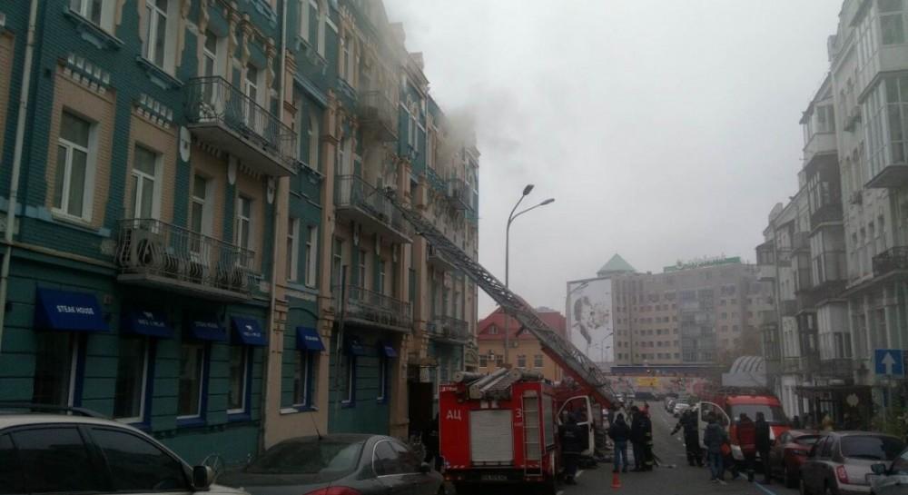 На месте происшествия работали 20 единиц техники / фото nashkiev.ua