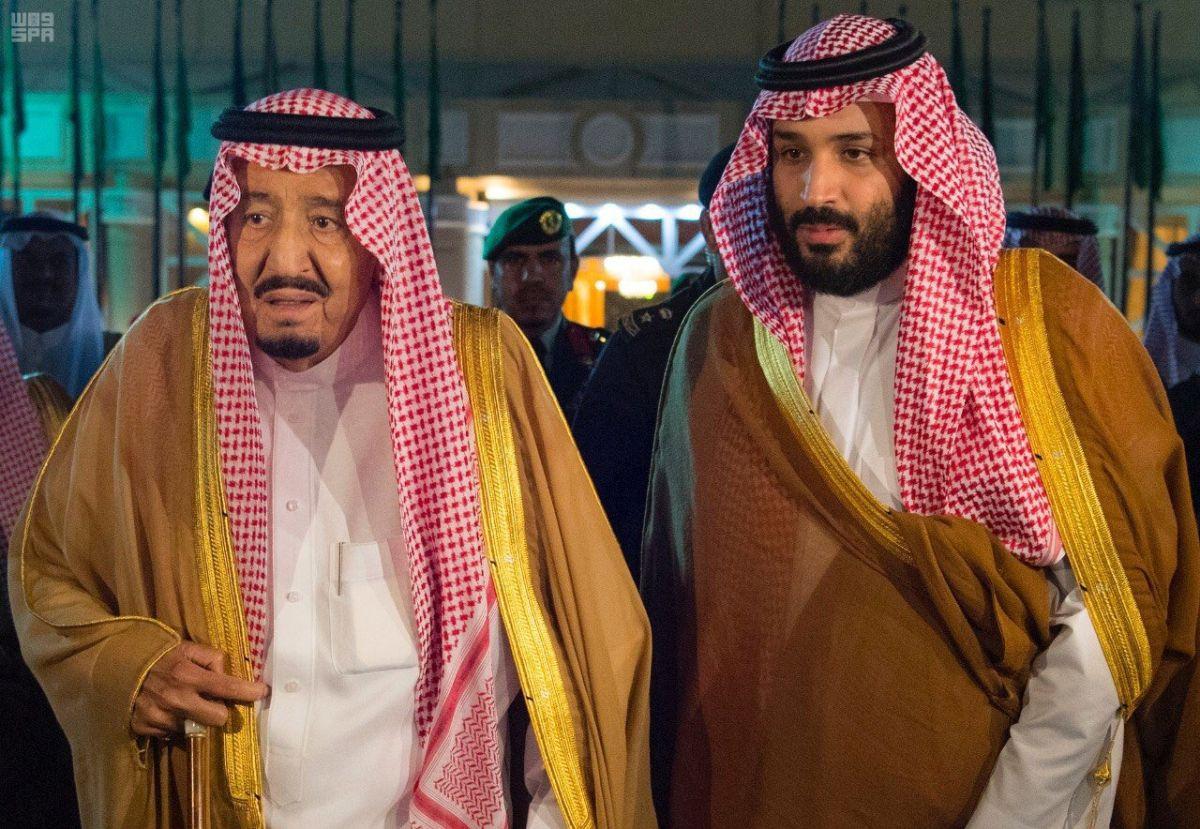 Король Саудівської Аравії Салман ібн Абдул-Азіз Аль Сауд та крон-принц Мухаммед бін Салман