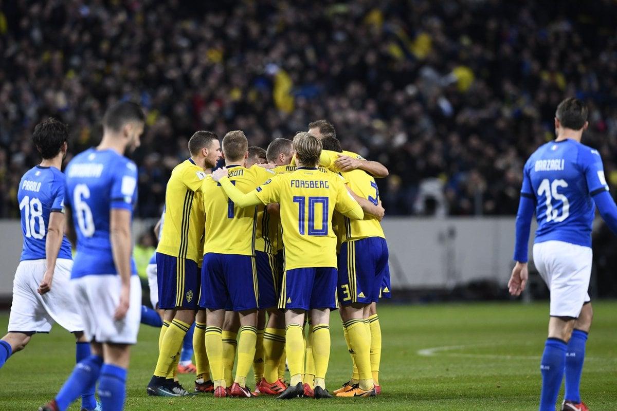 Швеция может оставить Италию без ЧМ впервые за 60 лет / twitter.com
