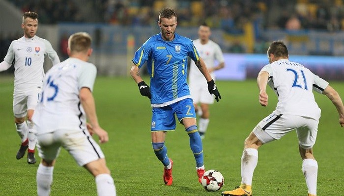 Ярмоленко забил красивый гол в ворота сборной Словакии / Dynamo.kiev.ua