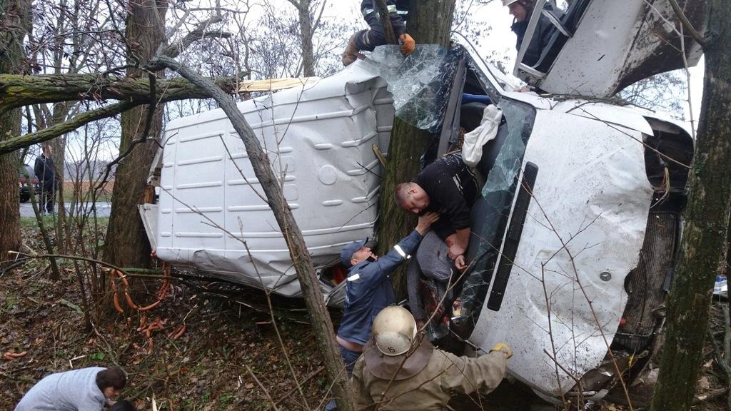 Рятувальники деблокували з авто постраждалого водія та двох загиблих пасажирів / фото прес-служби ДСНС у Житомирській області