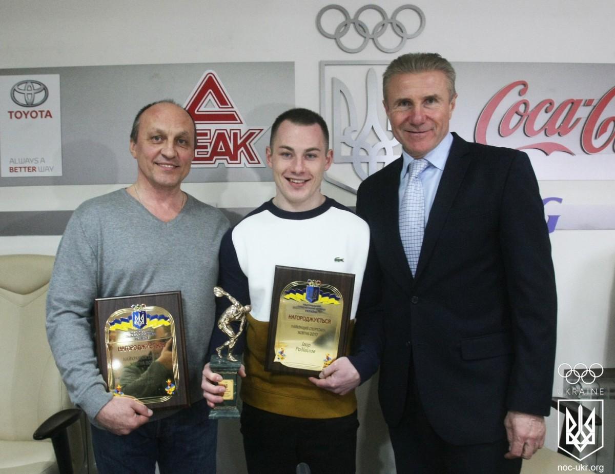 Радівілов отримав нагороди кращого спортсмену місяця НОК / noc-ukr.org