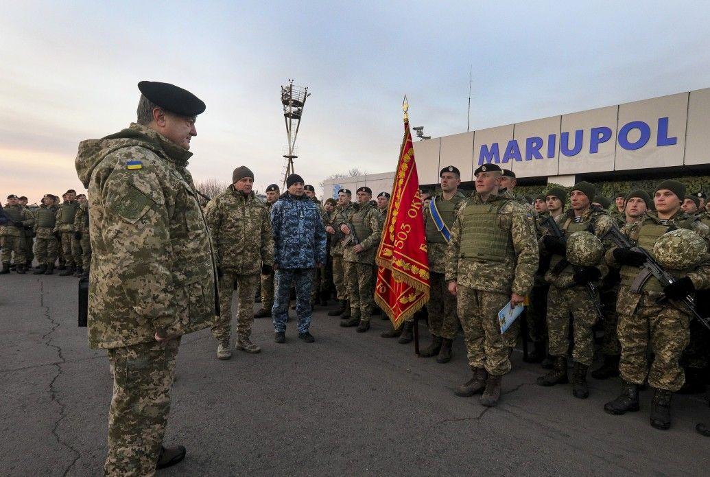 Сьогодні Порошенко відвідає Маріуполь знагоди Дня морської піхоти
