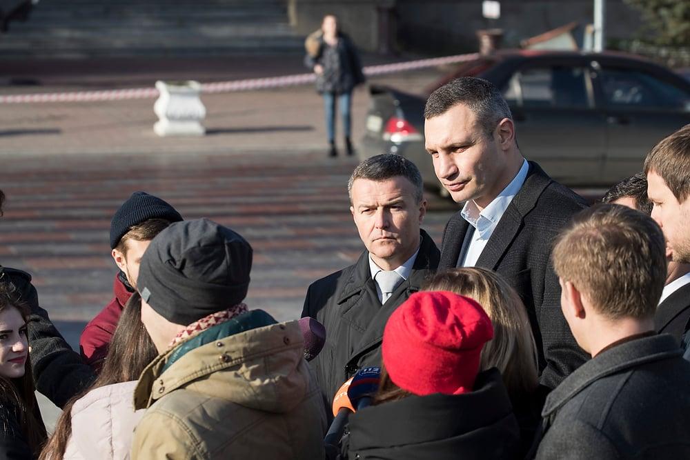 Кличко назвав терміни завершення капітального ремонту Володимирської вулиці / фото kiev.klichko.org