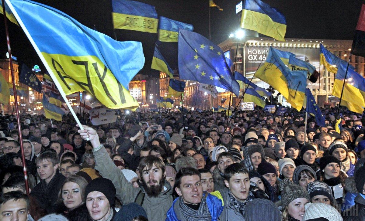 Уменьшилась доля граждан, что готовы гордиться Революцией Достоинства \ фото УНИАН