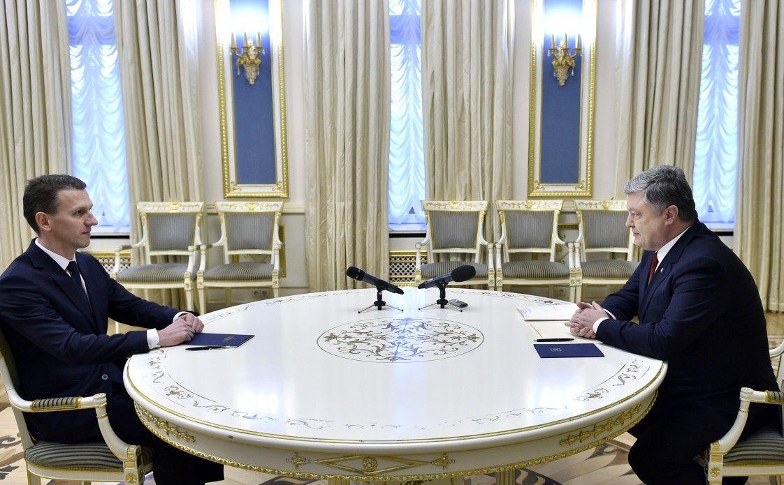 Сегодня Порошенко подписал указ о назначении Трубы головой ГБР / фото president.gov.ua