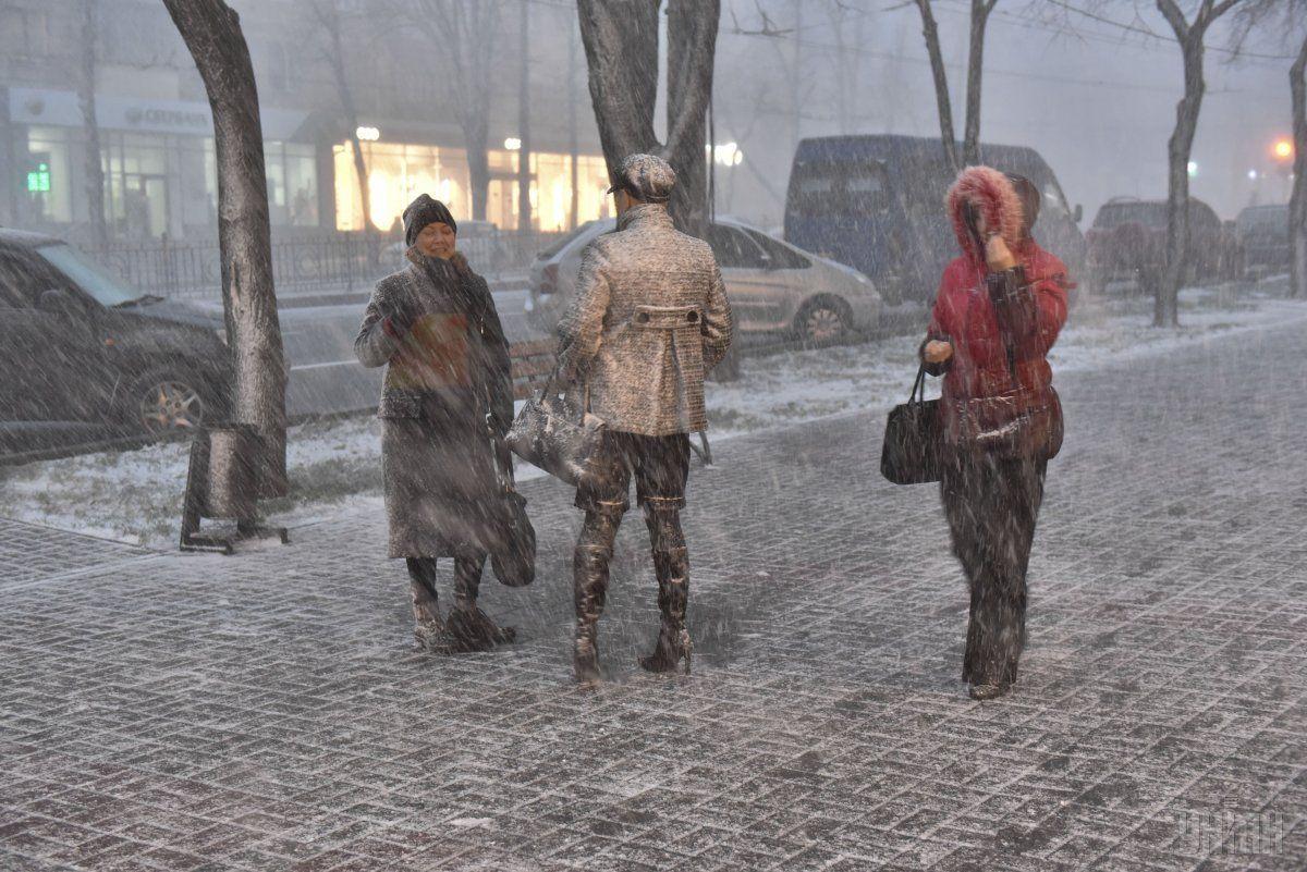 Киян попереджають про сильний сніг / УНІАН