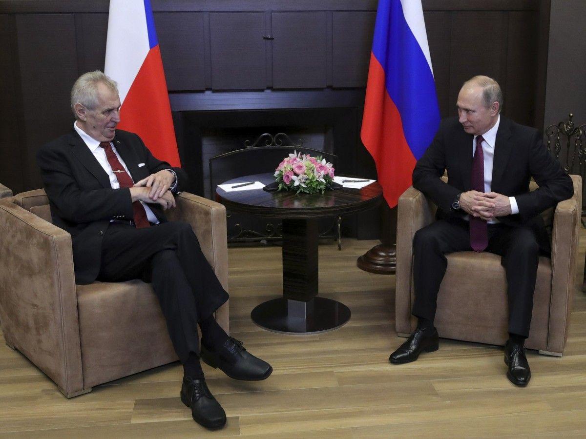 Милош Земан и Владимир Путин / REUTERS